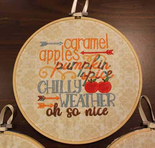 Fall Hoop Embroidery Decor