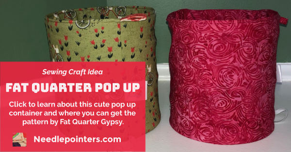DIY Fat Quarter Pop Up Fabric Basket Facebook ad