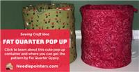 Fat Quarter Pop Up Container
