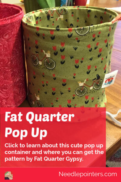 Fat Quarter Pop Up Container - Pin
