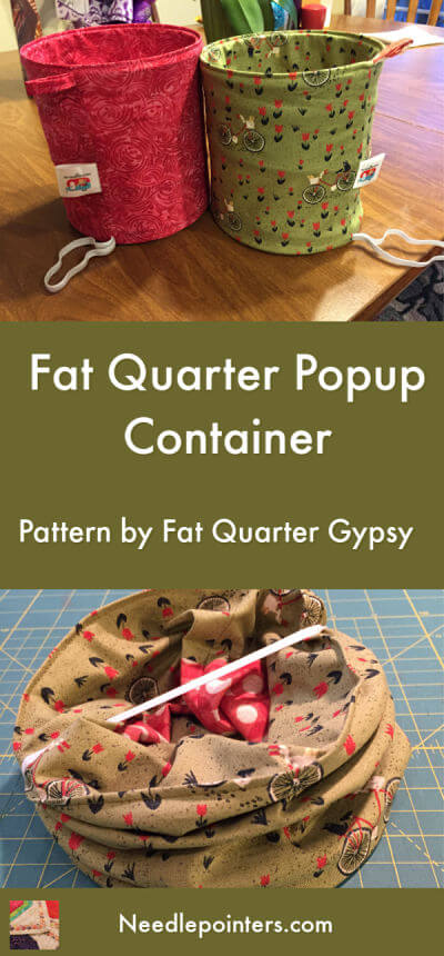 Fat Quarter Pop Up Basket - pin