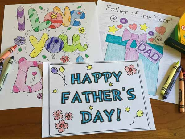 Free Printable Father's Day Coloring Pages and Cards