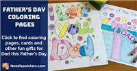 Father's Day Coloring Pages and Cards