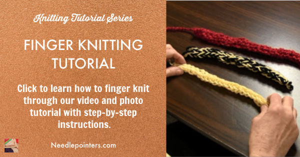 Finger Knitting Tutorial - Facebook Ad