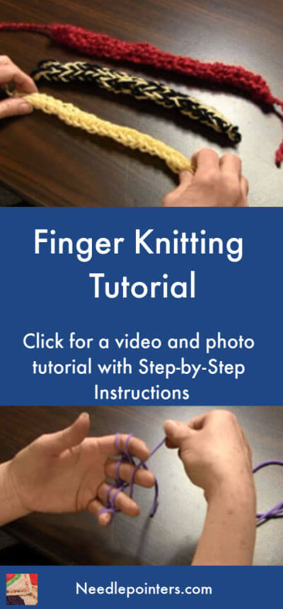 Finger Knitting Tutorial - Pin