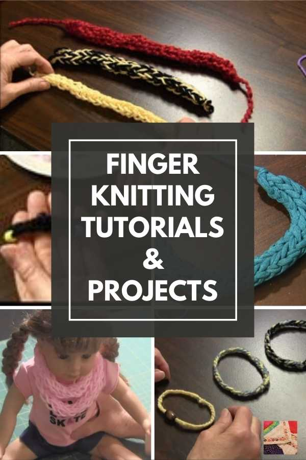 Finger Knitting Tutorials and Free Project Ideas