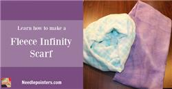Scarf - How to Sew a Fleece Infinity Scarf