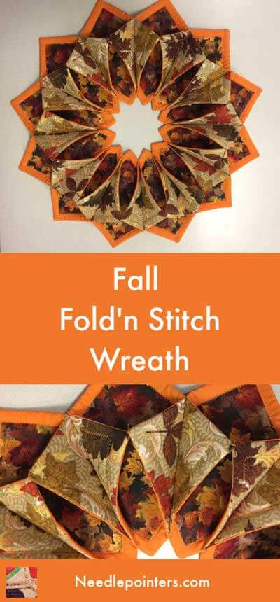 Fall Fold'n Stitch Wreath - pin