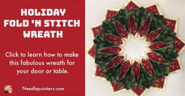 Holiday Fold'n Stitch Wreath - Facebook 2019