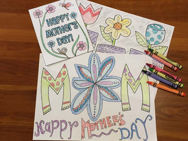 Free Mother's Day Coloring Pages - 1