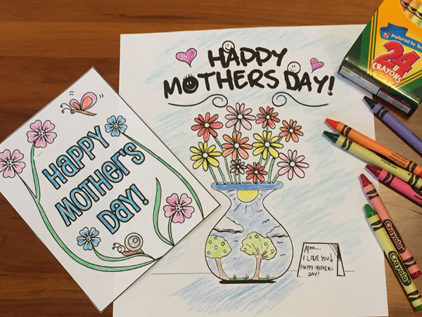 Free Mother's Day Coloring Pages - Happy Mother's Day Coloring Pages