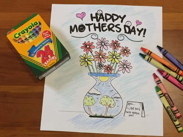 Free Mother's Day Coloring Pages - Mother's Day Coloring Cards