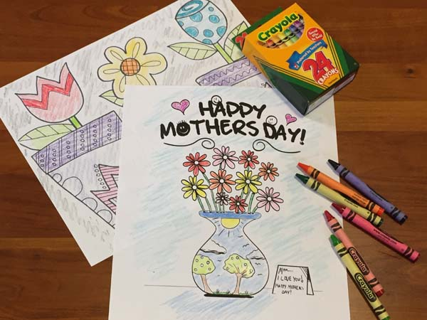 Free Mother's Day Coloring Pages - 4