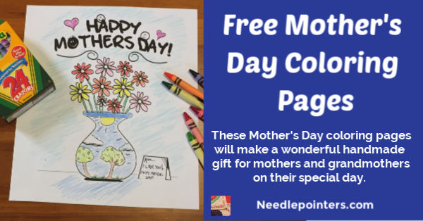 Free Mother's Day Coloring Pages - fb