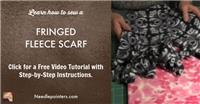 Scarf - How to Sew A Fleece Scarf with Fringe