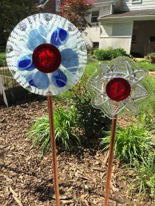 Garden Glass Flowers- Finished