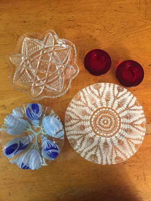 Garden Glass Flowers - Collecting Dishes