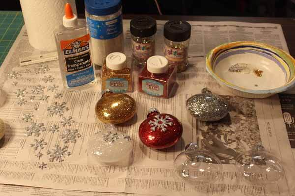 Glitter Ornament Tutorial - Supplies