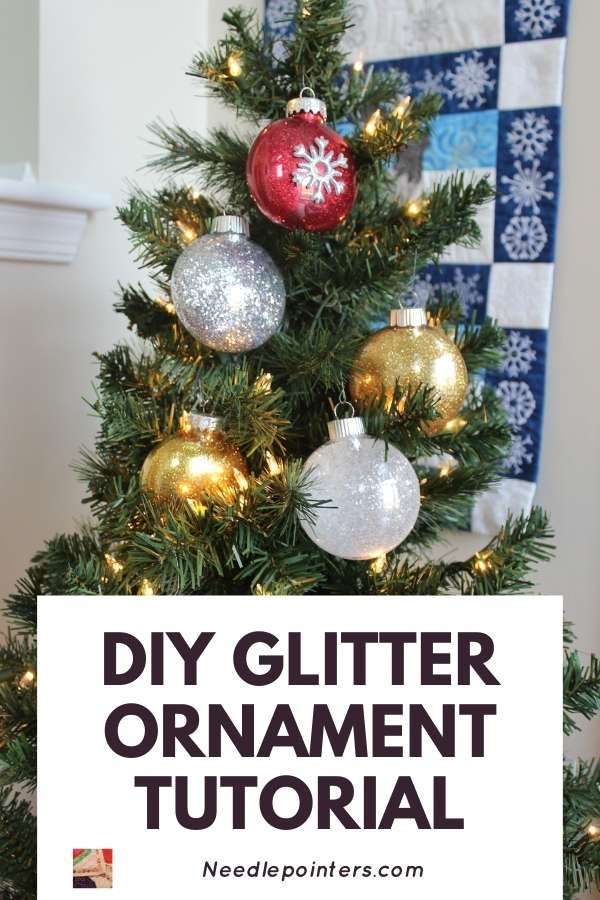 Glitter Ornaments Tutorial - pin