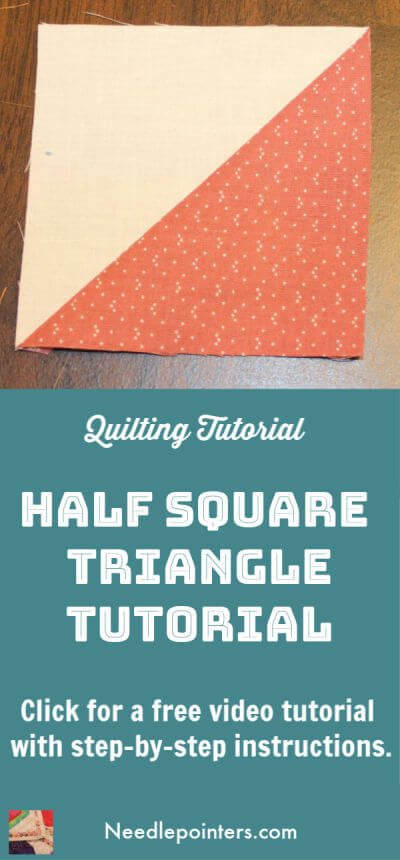 Quilting Tutorial - Half Square Triangle - Pin