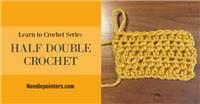 Half Double Crochet Stitch (hdc)