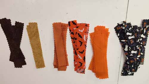 Halloween Fabric Garland - Fabric Strip Piles