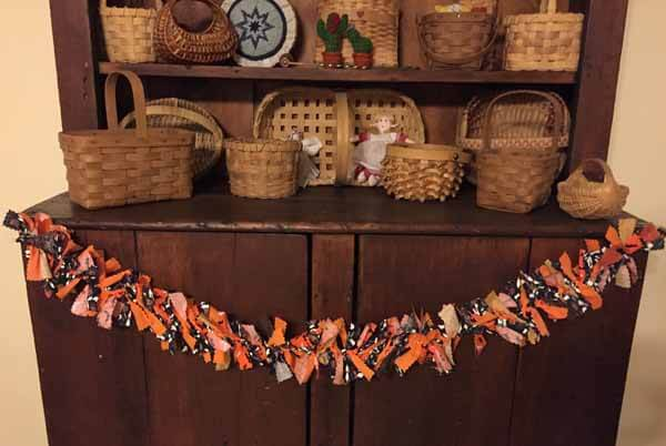 Halloween Fabric Garland - Finished