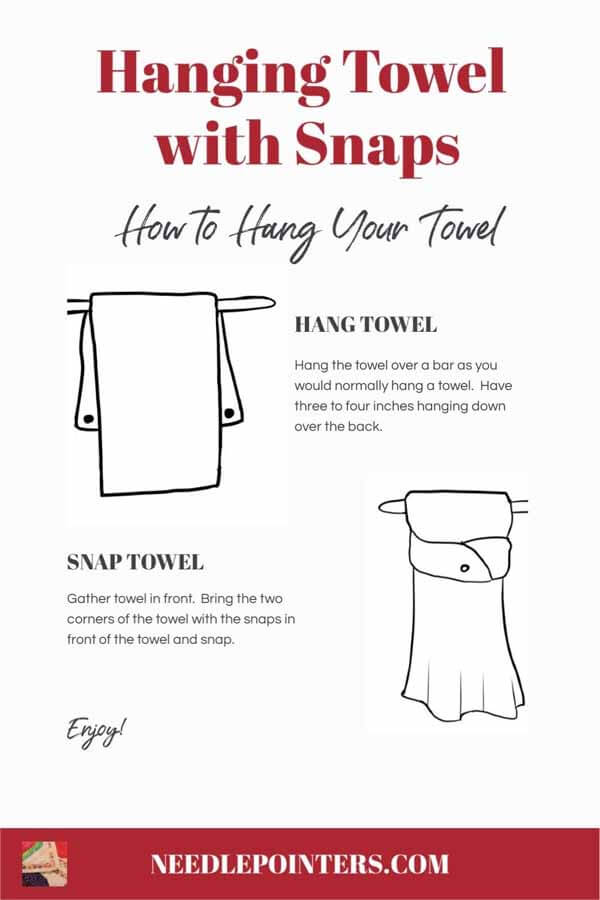 Hanging Towel with Snaps - Instruction Card