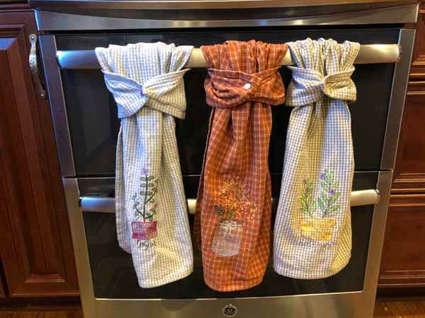 Hanging Towels with Snaps - Finished