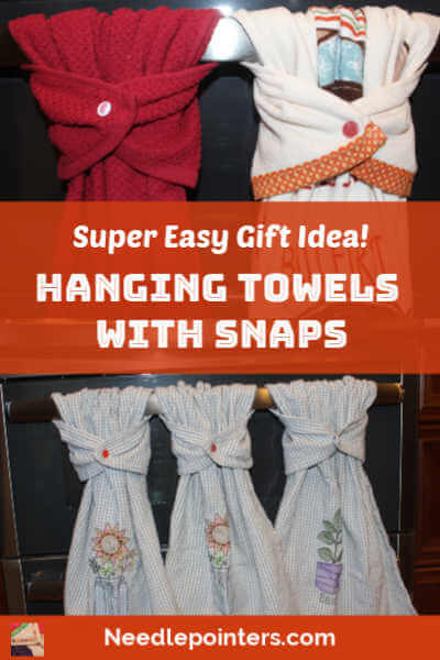 Hanging Hand Towels with Snaps - pin