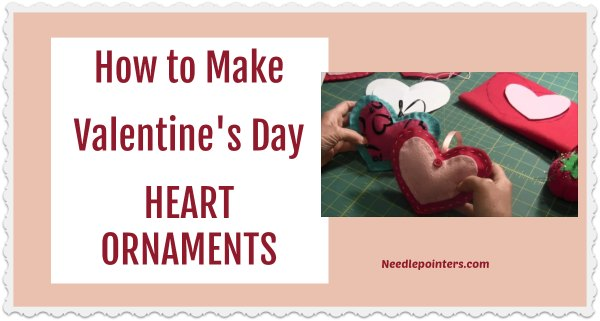 Heart Ornaments (Felt Project) - Valentine's Day Craft