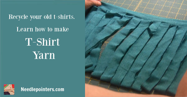 Learn how to make T-Shirt yarn for crochet - Ad 2