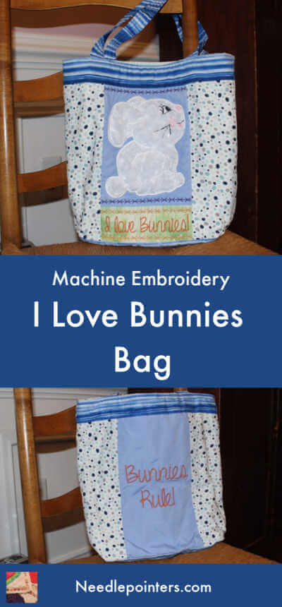 I Love Bunnies Bag Project - Pin