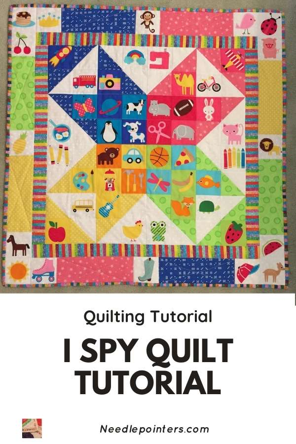 I Spy Quilt Tutorial - pin