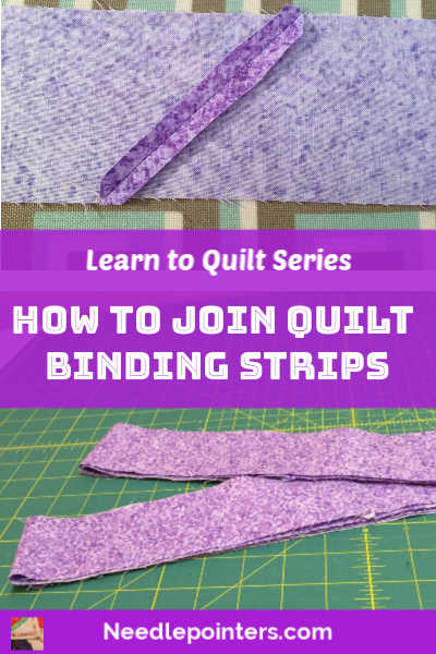 Joining Quilt Binding Strips - pin