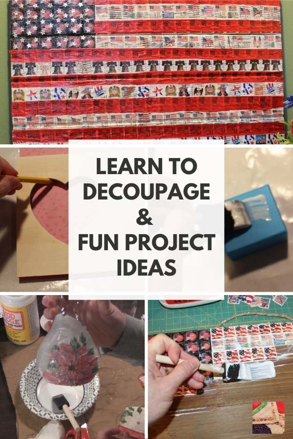 Decoupage and Mod Podge Art Tutorials and Projects