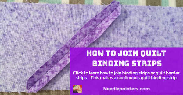Learn to join quilt binding strips - FB Ad