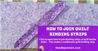 Joining Binding Strips