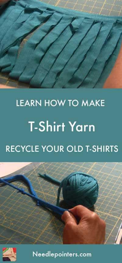 Learn how to make T-Shirt yarn for crochet - Pin