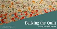 Backing - How to Make Quilt Backing
