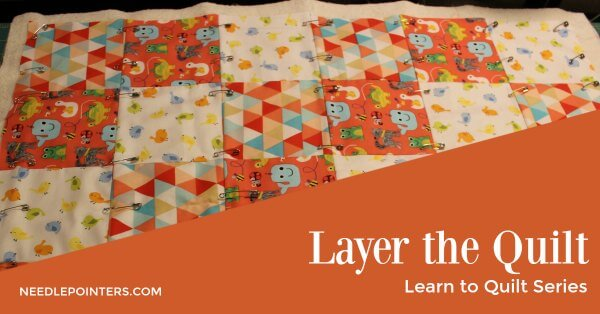 Beginner Quilt - Pin Baste