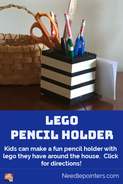 Lego Pencil and Memo Pad Holder - pin