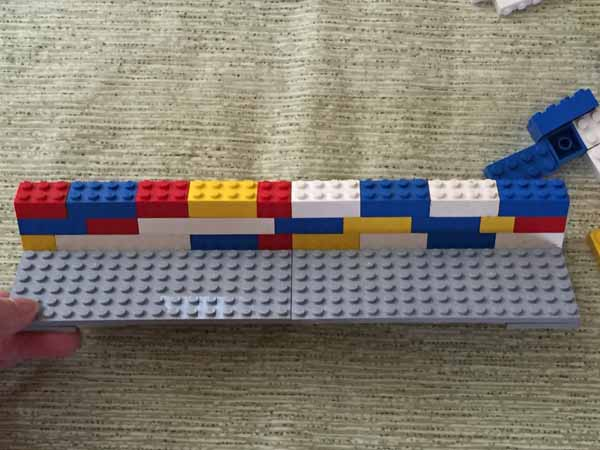 Lego Playing Card Holder - Back Wall