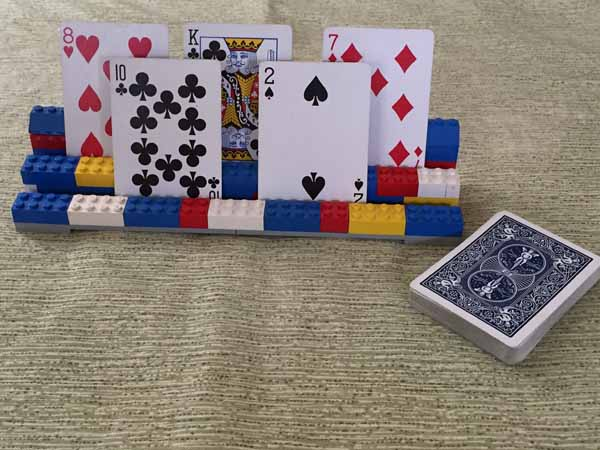 Lego Playing Card Holder
