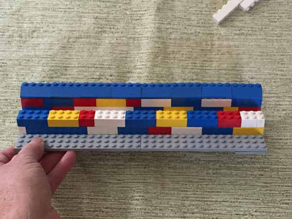 Lego Playing Card Holder - Middle Wall