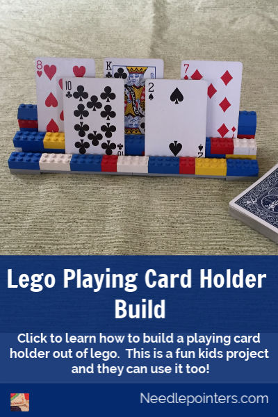 Lego Playing Card Holder - pin