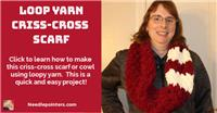 Loop Yarn Criss-Cross Scarf