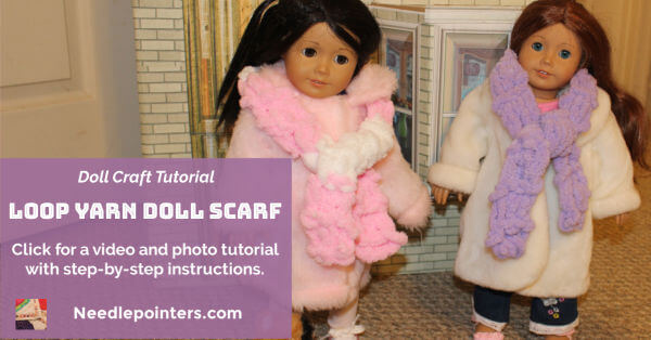 American Girl Doll - Loop Yarn Doll Scarf - FB ad