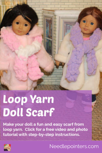 Loop Yarn Doll Scarf - pin