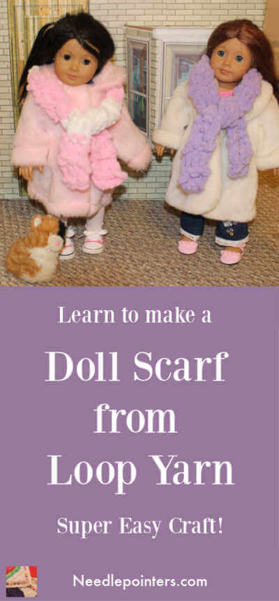 American Girl Doll - Loop Yarn Doll Scarf - Pin